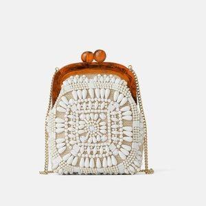 Zara beaded mini crossbody bag with straps